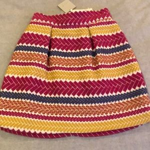 NWT Anthropologie Morgan Carper Skirt XS
